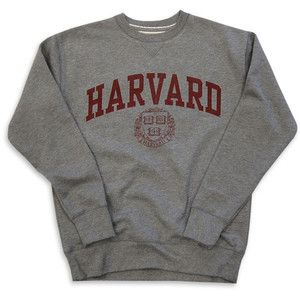 Harvard Sweatshirt Crew Vintage College Heather Grey