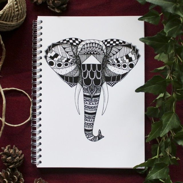 Phantom Notebook with elephant by Scandinavian designer Backlines - Nordic Design Collective