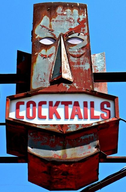 Tiki cocktail bar sign from the fifties