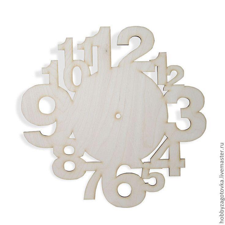 """Купить Часы настенные """"Цифры"""" F-0049 - белый, заготовки для декупажа, заготовки для росписи"""