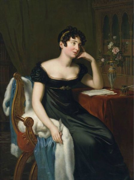Portrait of the Irish novelist Lady Sydney Morgan (née Owenson; 25 December 1781? – 14 April 1859), René Théodore Berthon 1818