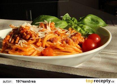 Špagety s mletým masem recept - TopRecepty.cz