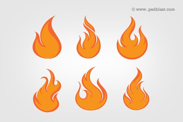 Fire flame icon set made in Photoshop. High resolution PSD file for designer. Easy editable and scalable PSD file.