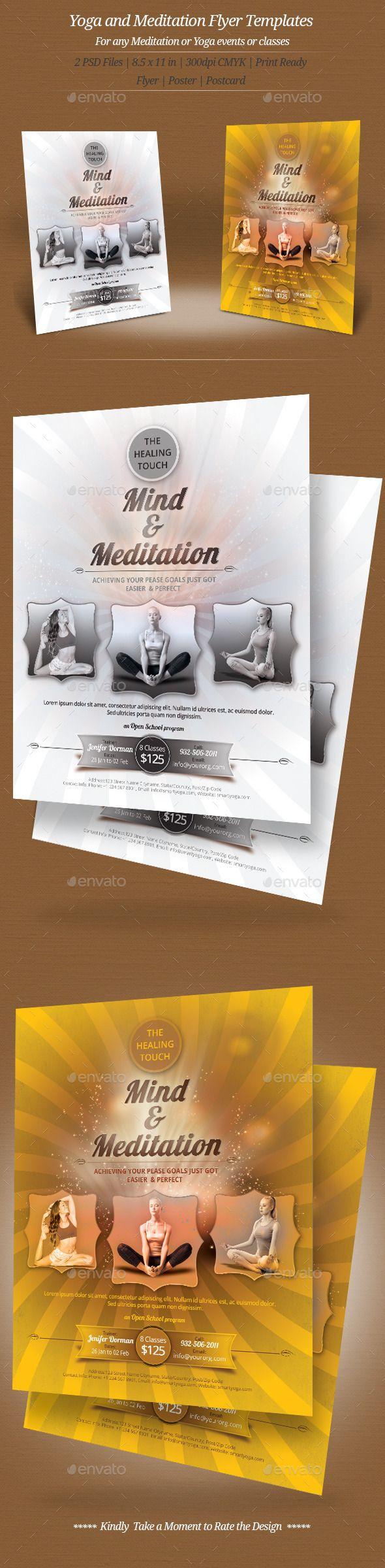 74 best Yoga Flyer / Print Templates / PSD images on Pinterest ...