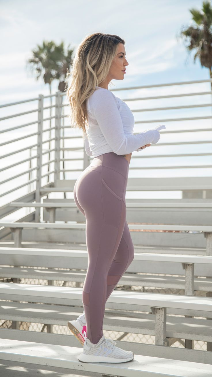 Aspire to be your very best self. Nikki Blackketter sporting the Sleek Aspire Leggings in Purple Wash. #gymshark