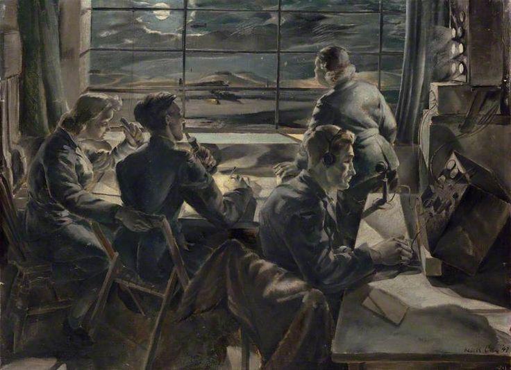 Leslie Cole - Night Scene in a Watch Office, 1942