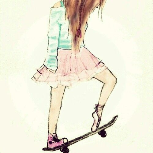 a girl that is a tomboy and a girly girl. If you could see she has a ballerina shoe and a snicker shoes☺