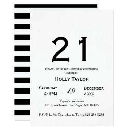 Personalized 21st Birthday Invitation