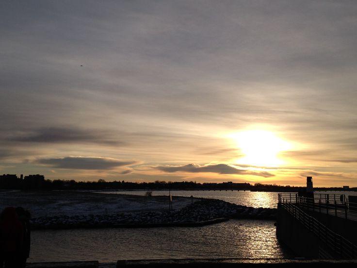 #Malmö #sea #sunset