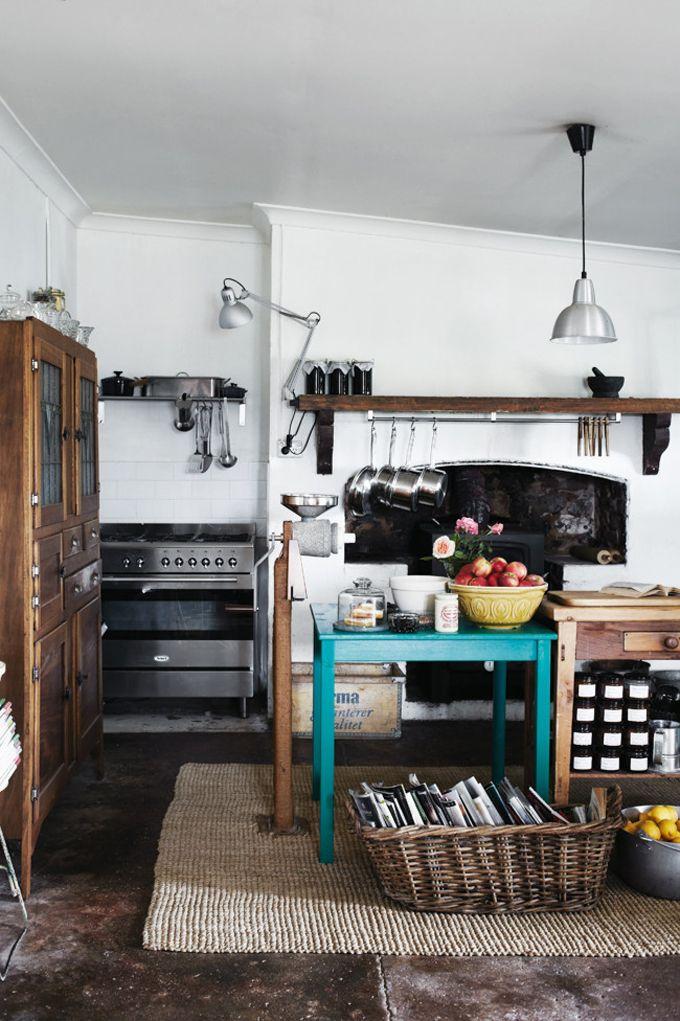 cuisine: Decor, Interior Design, Ideas, Interiors, Rustic Kitchens, Kitchen Design, House, Room