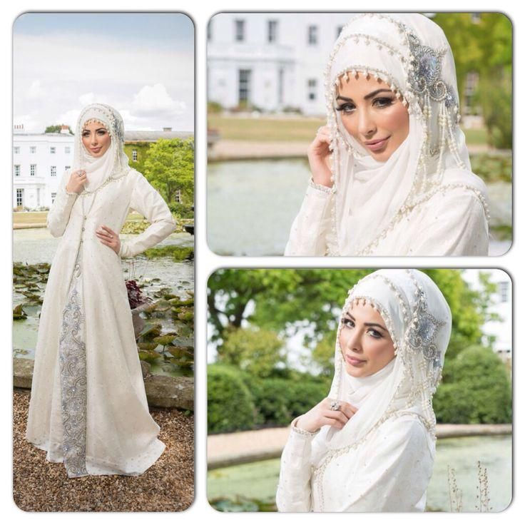 Muslim Lady Two Pieces Long Sleeve Embroidery Wedding Dresses Middle East Beautiful Dress Modest Bridal Wear Dress A Line No Hijab Scarf from First_lady_dress,$153.43 | DHgate.com