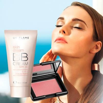 skin dream BB cream SPF 30 + Oriflame beauty perfect blush