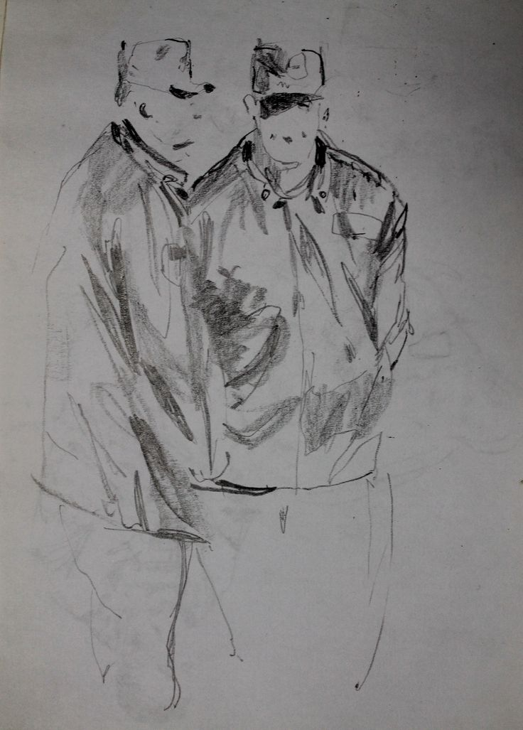 Титенков Владислав. Набросок. Патруль . А5.2013 Titenkov Vladislav. Sketch. Patrol.А5.2013
