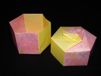 Origami Box - Hexagon Twisted Box