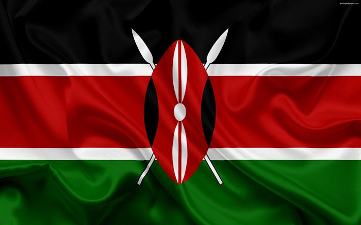 Download wallpapers Kenyan flag, Africa, Kenya, national symbols, flag of Kenya