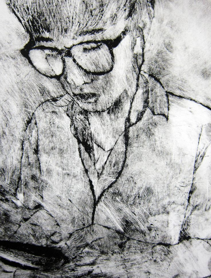Drypoint study of classmate by Louis Park, Year 12 AS Art, ACG School Jakarta