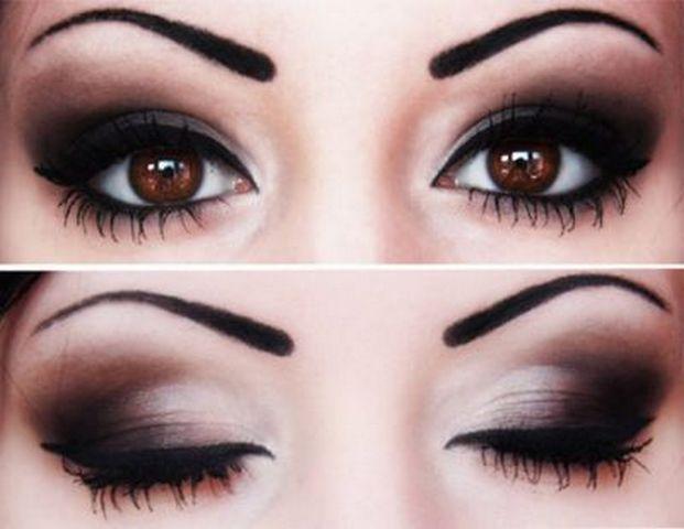 makeup for brown eyes   Cat eyes makeup tutorial for brown eyes