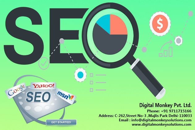 Digital Monkey Pvt Ltd is Best SEO Services Provider Delhi, NCR, helps your business promotions by optimizing your website with set of best SEO professionals being top SEO Company Offers ethical SEO services.