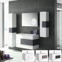 Mueble de baño Cronos Blanco antracita mate Salgar CuartodeBaño.com