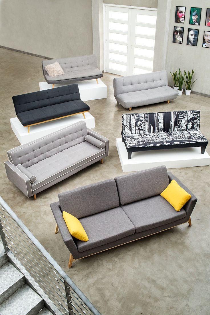 Sillones y futones para todos los gustos. #Muebles #Easytienda #Decoración #Combinaciones