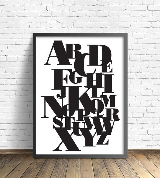 Bodoni Poster Font Printable Black And White Printable