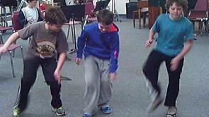 Gumboot dancing clip