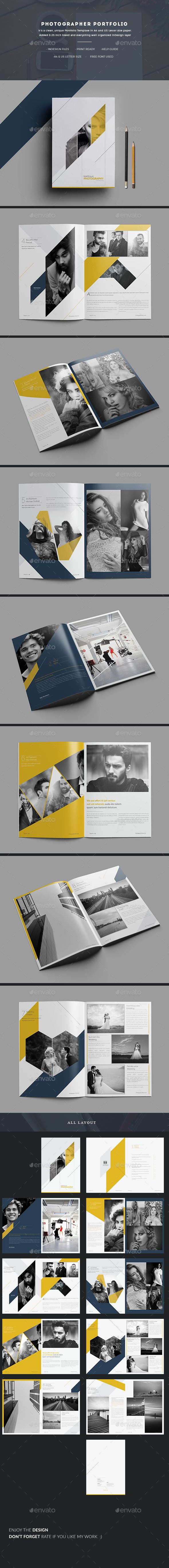 Photographer Portfolio  — InDesign Template #inspiration #photo album #landscape • Download ➝ https://graphicriver.net/item/photographer-portfolio/18564244?ref=pxcr