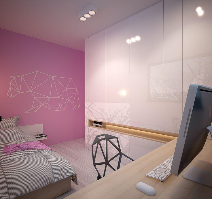 Children room design in POLAND - archi group. Pokój dziecięcy w domu jednorodzinnym w Siemianowicach Śląskich.