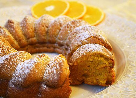 saffranskaka och apelsinskivor Glutenfritt