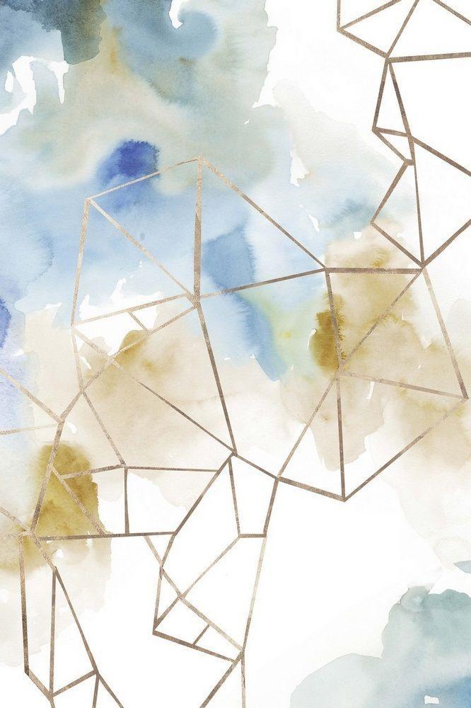 Set Of 3 Abstract Original Watercolor Paintings 9x12 Geometry Art