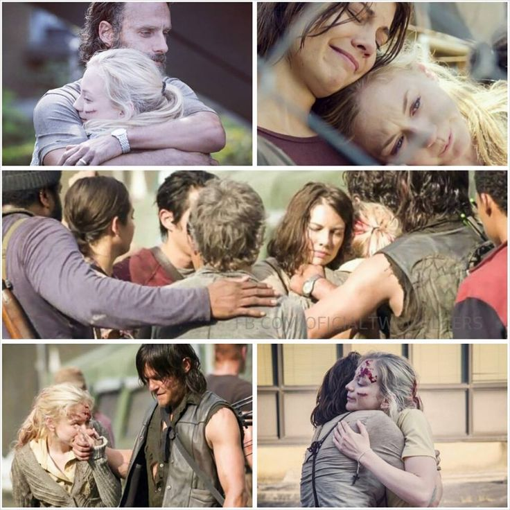 Emily and cast after her character, Beth Greene, was killed in 'Coda'. I cried like a little baby, so sad.