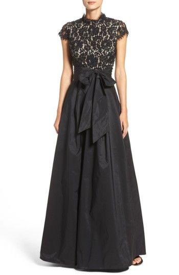 Free shipping and returns on Eliza J Beaded Bodice Ballgown at Nordstrom.com. Classically romantic and impeccably crafted, this timeless ballgown begins with a high-neck lace bodice dazzling in glitzy beadwork. The structured taffeta skirt accentuates your waist with an oversized bow sash before flaring to a dramatic silhouette.