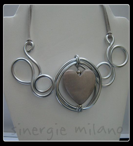 Collana cuore di sinergie milano bijoux su DaWanda.com