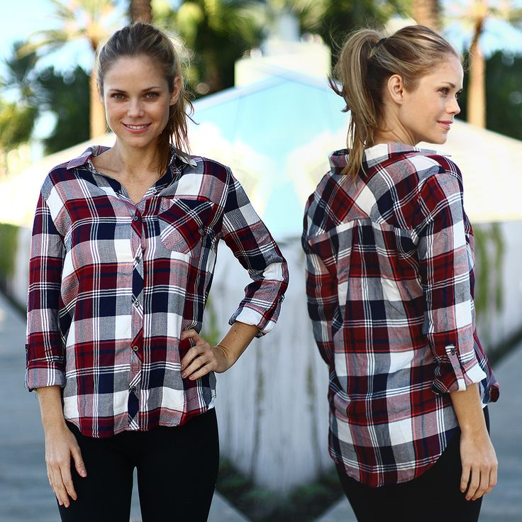 Plaid lover BEWARE! You may fall in love with this Burgundy Plaid Top! Sweet and simple burgundy plaid that goes with everything. Rap around your waist or wear it with your favorite skinny jeans or pair it with our amazing stretch black leggings for a more casual look! Check out other cute tops at our trendy online boutique!