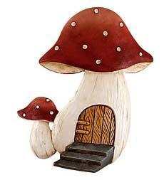 Mushroom Gnome Door Outdoor Magical Garden Decor
