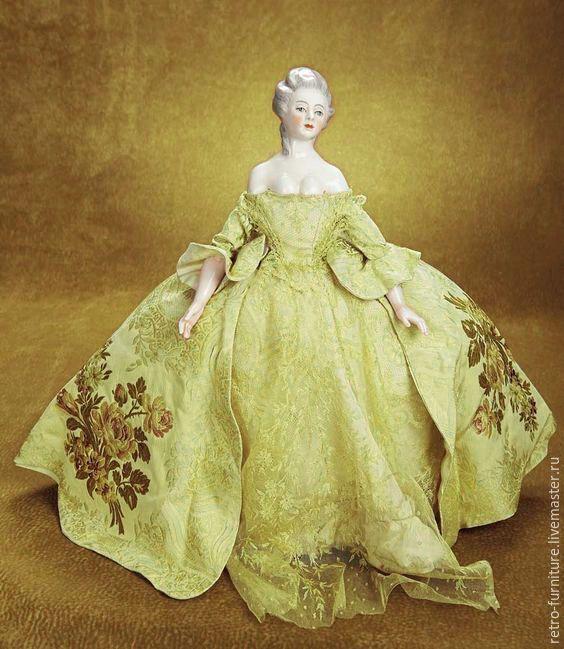 Купить Half doll, антикварная фарфоровая кукла - половинка 10, 5 см - антиквариат винтаж
