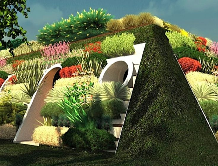 Arable Houses covered with vegetables and fruits that provides food to their in habitants.