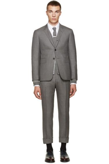 Thom Browne - Grey Wool Classic Suit