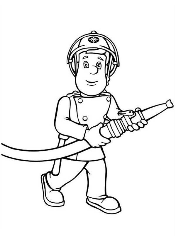 Fire Extinguisher Coloring Page Fireman Sam Bring Hose Coloring Page Coloring Sky In 2020 Truck Coloring Pages Cross Coloring Page Coloring Pages