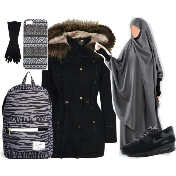 Cours by jilbabi on Polyvore featuring mode, Boohoo, Herschel, With Love From CA, Maison Margiela and NIKE