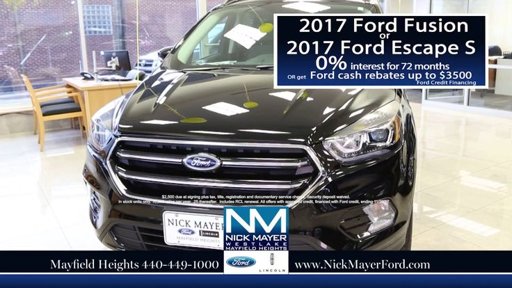 Lease a New Ford Fusion for Euclid OH and All of Northeast Ohio at Nick ...