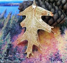 Real leaf, EXTRA LARGE Oak Leaf, 24K gold dipped, unique ornament decoration: Decoration