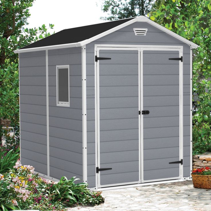 Keter Manor 6 Ft W X 8 Ft D Resin Storage Shed Plastic Storage Sheds Outdoor Storage Sheds Shed Storage