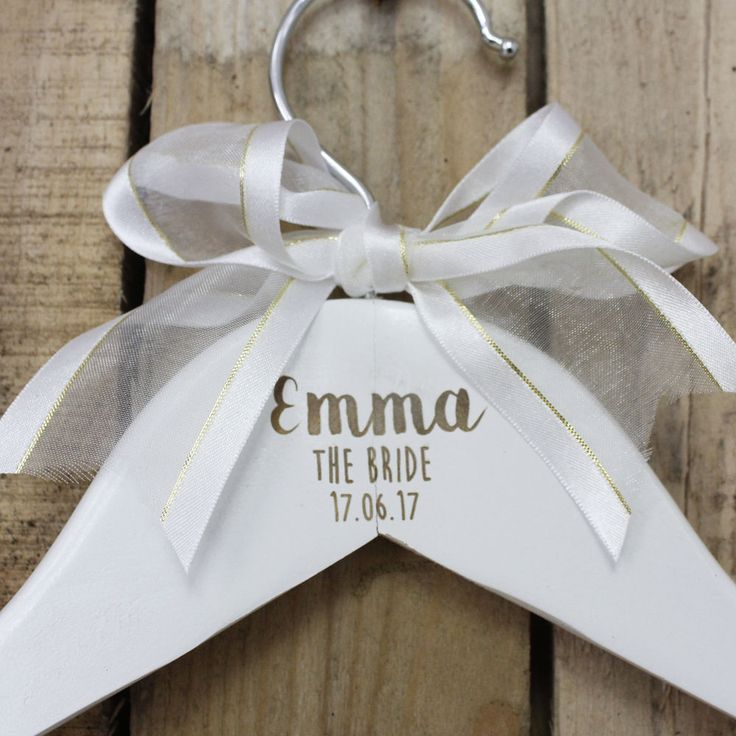 Best 25 bridal hangers ideas that you will like on for Wedding dress hangers with name