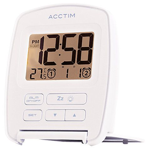 Buy Acctim Erebus Flip Alarm Clock, White Online at johnlewis.com