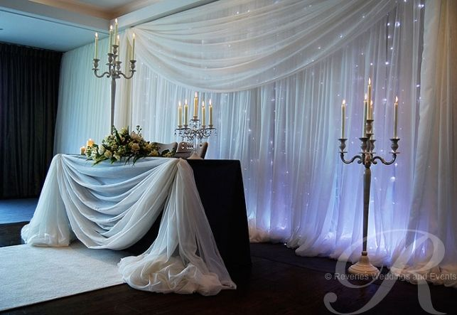 Head Table I Like The Cake Behind The Head Table So You: 189 Best Images About Fabric Draping On Pinterest