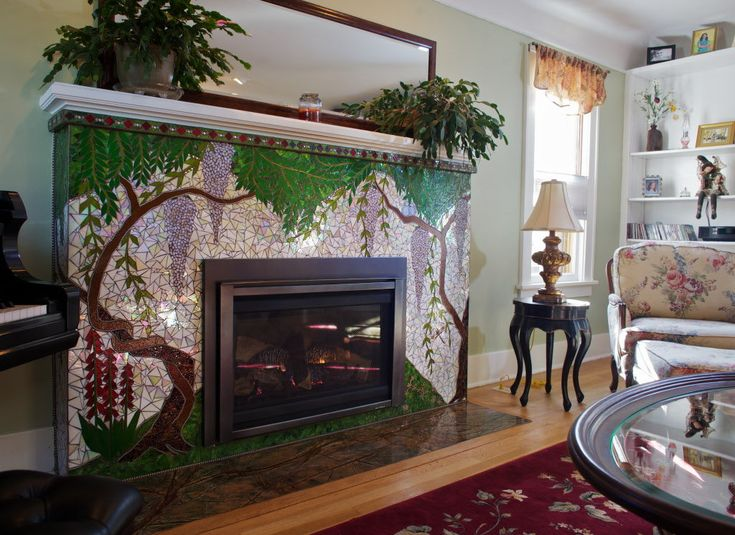mosaic tile fireplace whatever the case it took isotov some time to discover and