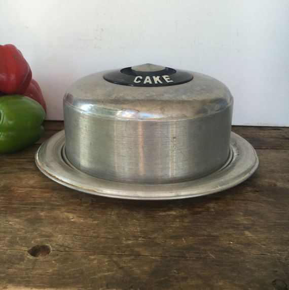 Midcentury Modern West Bend Aluminum Co Cake Carrier Cover Plate Kromex Classic…