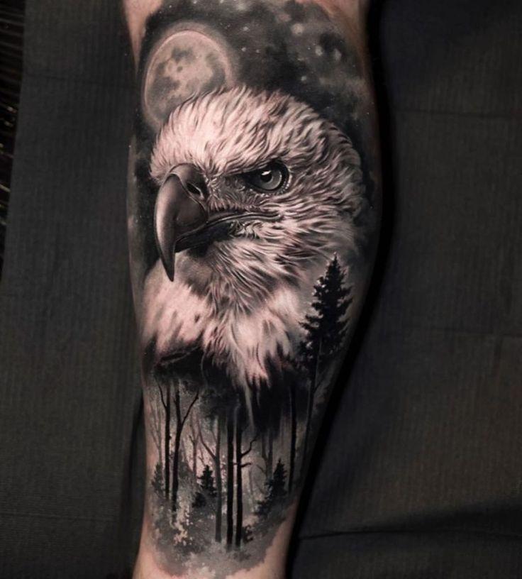 Adler in der Galerie der Woche   Adler-tattoos, Realismus ...