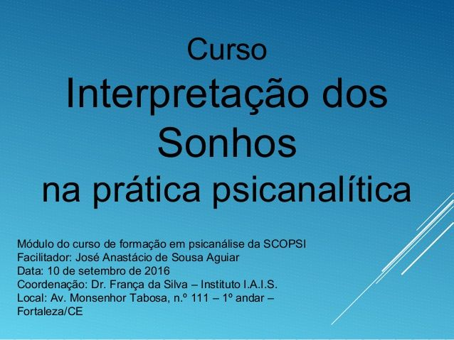 Power Point Do Curso Interpretacao Dos Sonhos Na Pratica